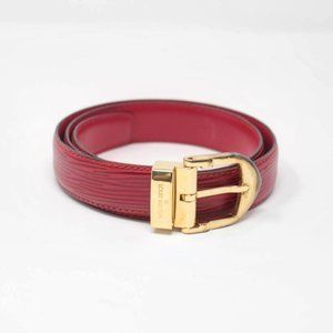 LOUIS VUITTON Red Epi Leather Belt